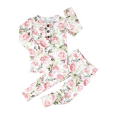 Caroline Floral Ruffle Two Piece - Gigi and Max