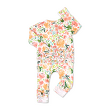 Cora Floral Ruffle Zip One Piece - Gigi and Max