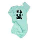 Mint New to the Crew gown stripe Gender Neutral - Gigi and Max
