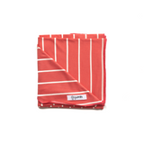 Coral Stripe Lightweight Swaddle blanket - Gigi and Max