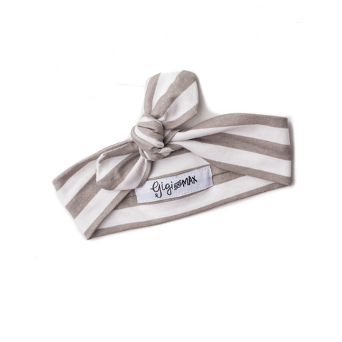 Gray Stripe headband - Gigi and Max
