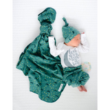 "Teal Moon and Stars Swaddle - 34""x34"" - Gigi and Max"