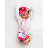 Isn't She Lovely Emilia Floral Newborn Outfit - Gigi and Max