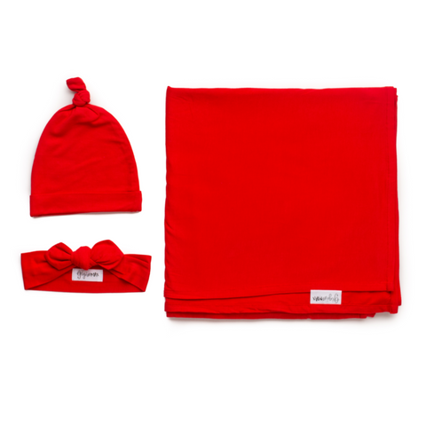 Christmas Red Swaddle blanket - Gigi and Max