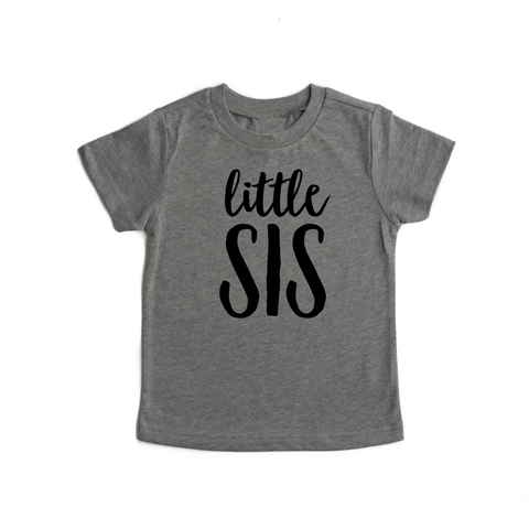 Little SIS Gray Triblend Tee - Gigi and Max