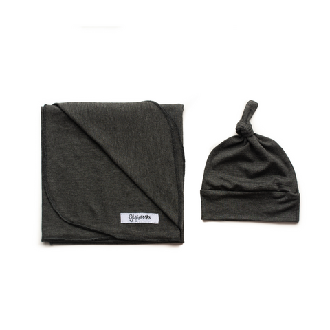 Charcoal Lightweight Swaddle blanket - Gigi and Max