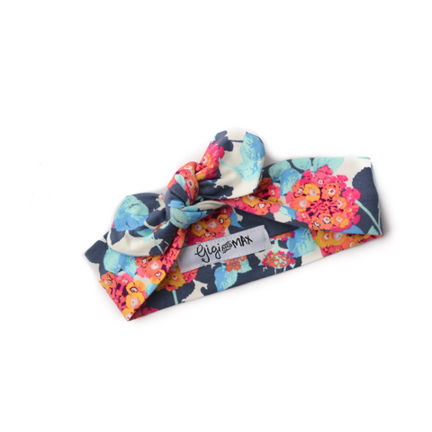 Pink and Blue floral headband - Gigi and Max