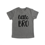 Little BRO Gray Triblend Tee - Gigi and Max