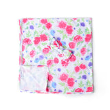 "Pink Purple Brynn Floral Swaddle blanket - 36"" x 36"" - Gigi and Max"