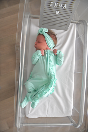 Finley RUFFLE Mint Newborn ZIP - Gigi and Max