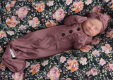 Willow Charcoal Floral Swaddle blanket - Gigi and Max