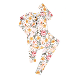 Nella Vintage Floral Ruffle TWO PIECE