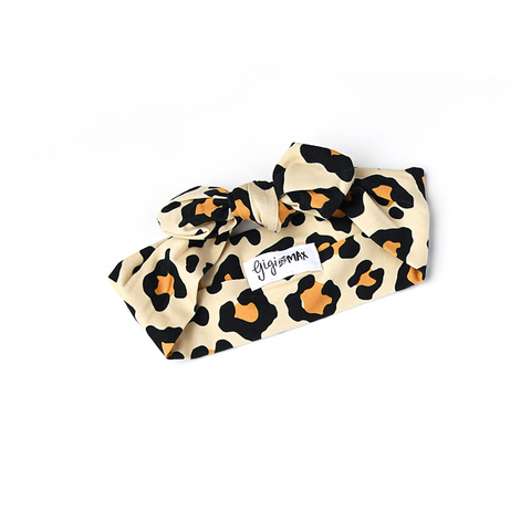 Gia Leopard Topknot Headband - Gigi and Max