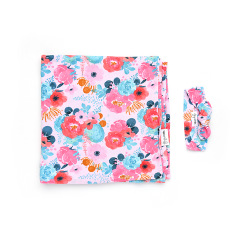 Phoenix Floral Swaddle blanket - Gigi and Max