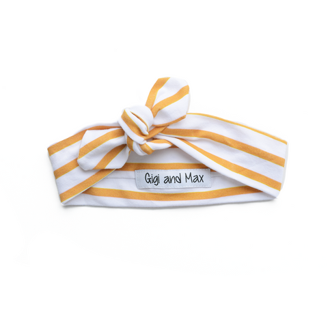 Mustard Stripe headband - Gigi and Max