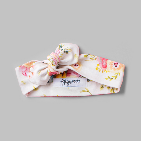 Cream Floral headband - Gigi and Max