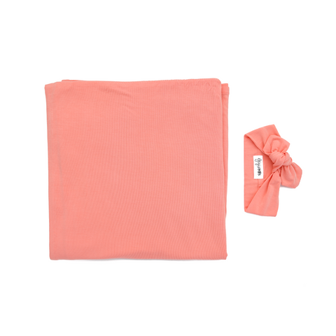 Mila Peach Swaddle blanket - Gigi and Max