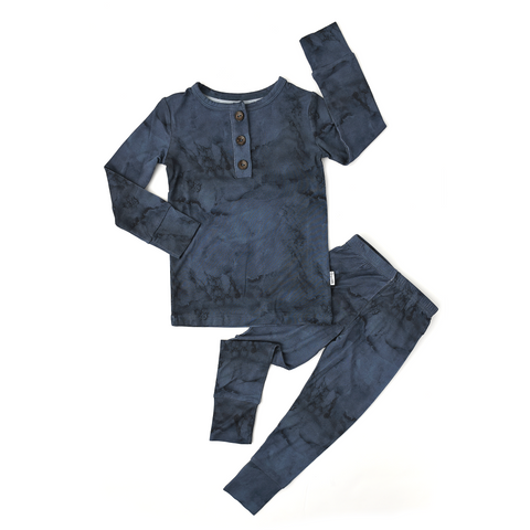 Jack Navy Marble Two Piece - Gigi and Max