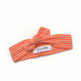 Orange thin stripe headband - matches Pumpkin Pie Romper - Gigi and Max