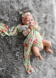 Grace Floral Swaddle Blanket - Gigi and Max