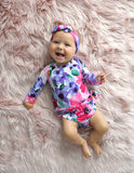 Long Sleeve Tutu Emilia Floral Skirted Bodysuit - Gigi and Max
