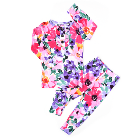 Emilia Floral Ruffle Two Piece - Gigi and Max