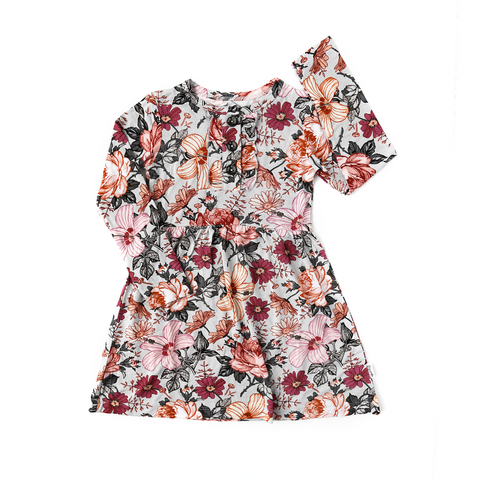 Ari Dark Vintage Floral Tutu Dress - Gigi and Max