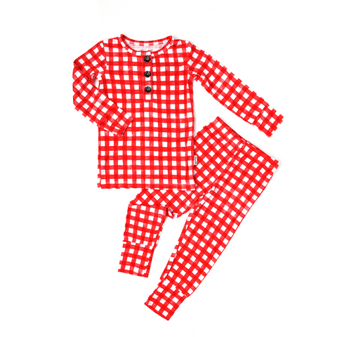 Frost Red Gingham TWO PIECE - Gigi and Max