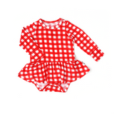 Frost Red Gingham TUTU - Gigi and Max