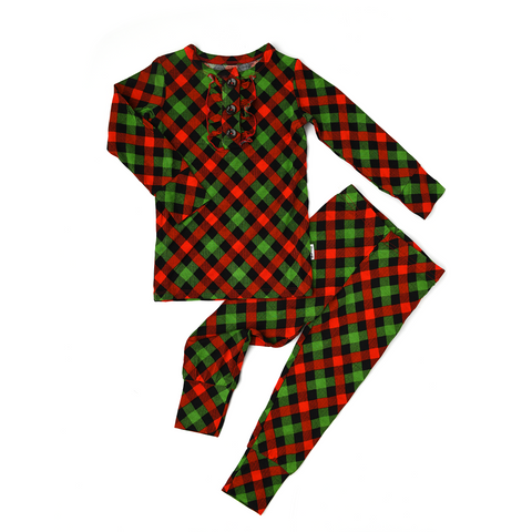 Paxton Christmas Plaid RUFFLE TWO PIECE - Gigi and Max