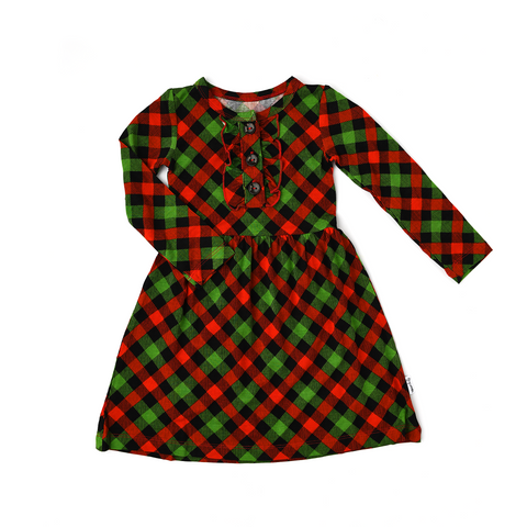 Paxton Christmas Plaid Ruffle TUTU DRESS - Gigi and Max