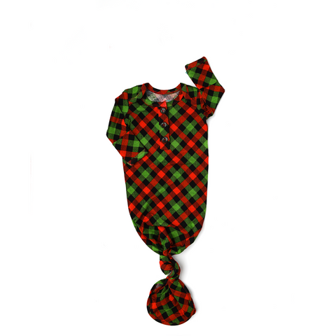 Paxton Christmas Plaid GOWN - Gigi and Max