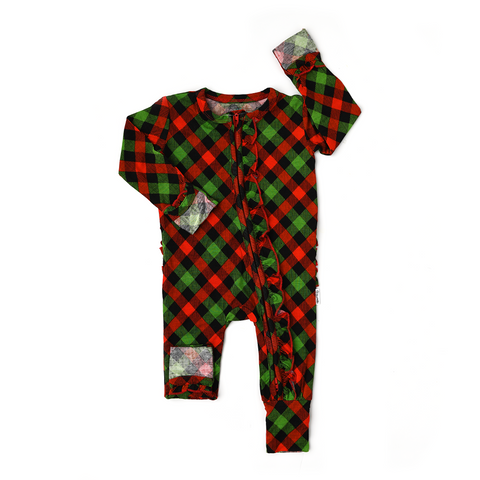 Paxton Christmas Plaid RUFFLE ZIP - Gigi and Max