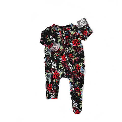 Holly Floral Newborn Ruffle ZIP - Gigi and Max