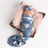 Slate Floral Ultimate baby girl Newborn going home outfit bundle - Gigi and Max