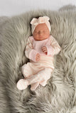 3 Piece Newborn Outfit light pink with stripes - Gigi and Max