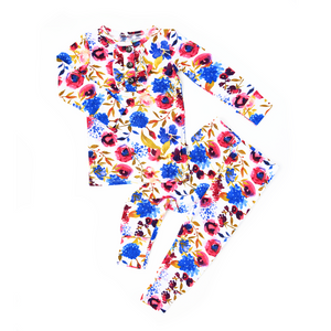 Sophia Floral Ruffle TWO PIECE
