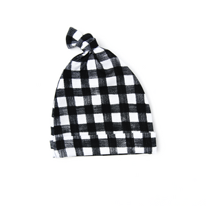 Parker Gingham Newborn knot hat - Gigi and Max