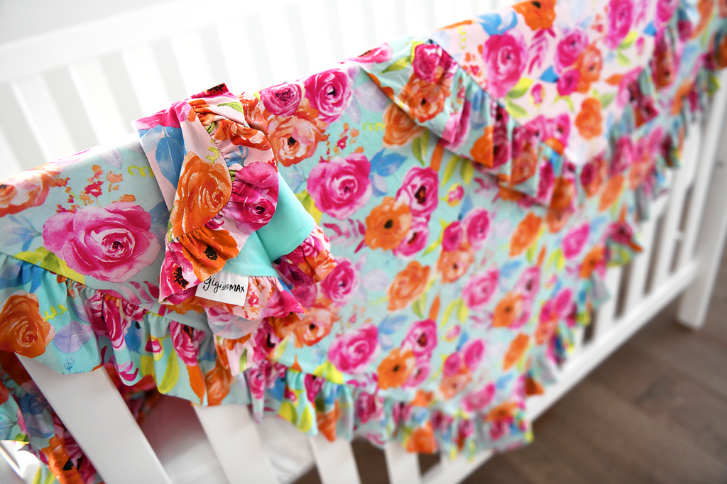 Paige Floral Ruffle Lovey - Gigi and Max