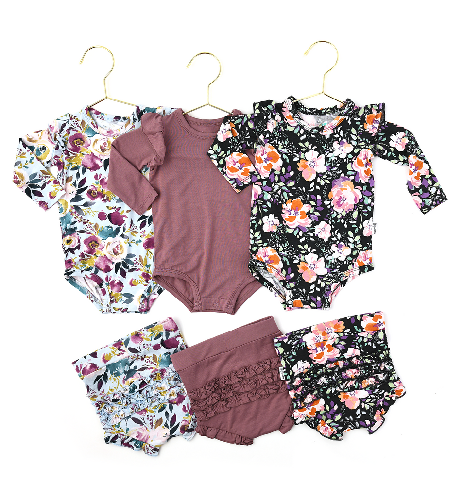 Willow Floral Ruffle BUMMIES - Gigi and Max