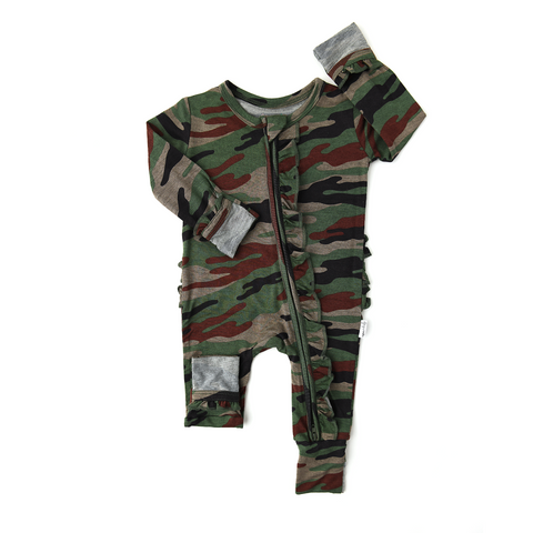 Camo RUFFLE ZIP - Gigi and Max