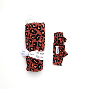 Sienna Leopard SWADDLE - Gigi and Max