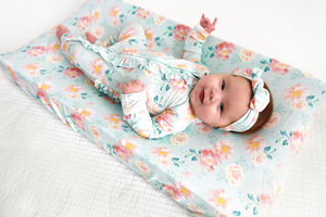 Mae Floral Changing Pad Cover - Gigi and Max