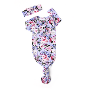 Emerson Floral Ruffle GOWN - Gigi and Max