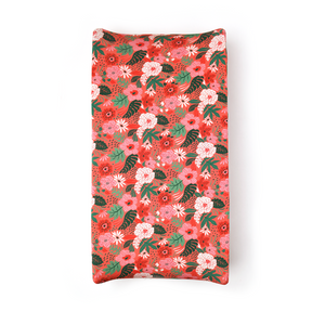 Leilani Floral Changing Pad Cover - Gigi and Max