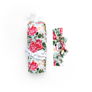 Garden Floral SWADDLE - Gigi and Max