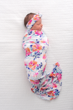 Bella Floral Swaddle blanket - Gigi and Max