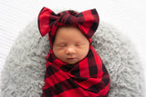 Hudson Buffalo Plaid Bow Headband - Gigi and Max