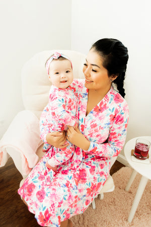 Lucy Floral Mommy Robe - Gigi and Max