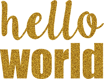 Hello World - Glitter Gold - Gigi and Max